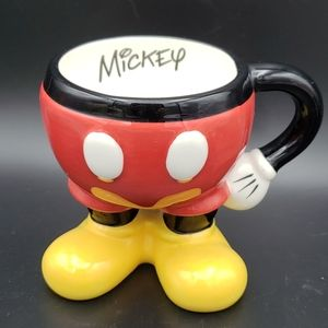 Mickey Mouse Mug with Feet Disney Parks Footed
